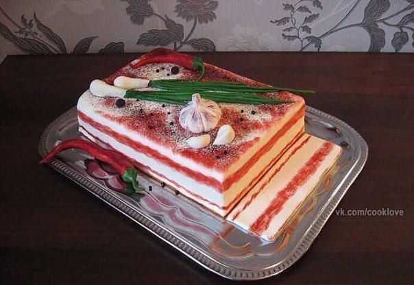 Ну очень необычный тортик.