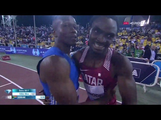 Akani Simbine Wins Men's 100m IAAF Diamond League Doha 2017
