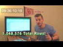 INSANE EXCEL CHALLENGE! Over 9 hours to reach the bottom of Excel..