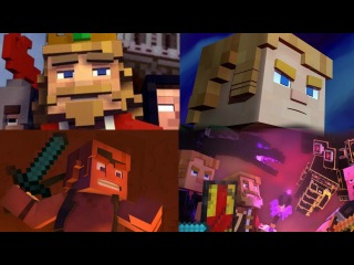 CaptainSparklez' Tetralogy: Fallen Kingdom, Take Back the Night, Find the Pieces, Dragonhearted.