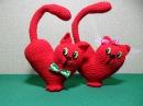Валентинка Сердце Кот крючком Подробный МК Часть1