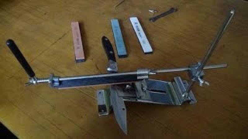 Станок для заточки ножей под требуемым углом с Aliexpress. Обзор и сборка