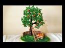 Дерево из бисера ЯБЛОНЯ СВОИМИ РУКАМИ / Мастер-класс / DIY