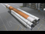 KSP Falcon 9 boosted SLS to the moon in RO