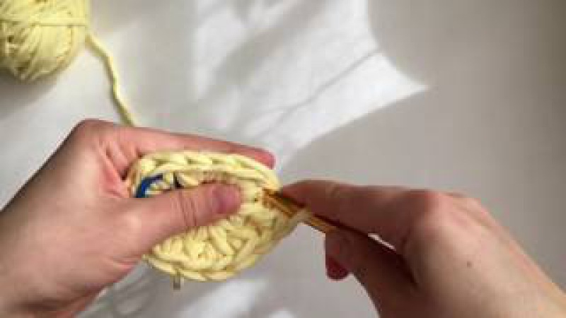 Вязание круга крючком столбиками без накида в раскол