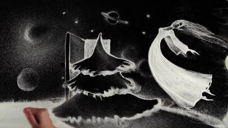 Киев. 31 декабря, 2012 .Анимация снегом С Новым Годом! - Fantastic animation in snow Happy New Year! by