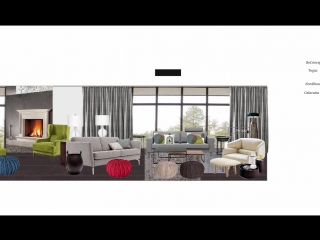 Как собрать интерьерный коллаж в Corel Draw? Посмотрите на примере проекта Дом у озера.