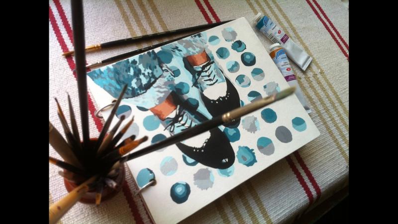 Скетчбук Штиблеты от Salli`s handmade