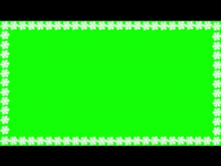 Футаж снежинки рамка #1 Footage frame snowflakes green background free download