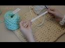 2 способа вязания шнура одноцветный и двухцветный