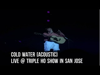 Justin Bieber - Cold Water [Acoustic] Live @ Triple Ho Show in San Jose, California