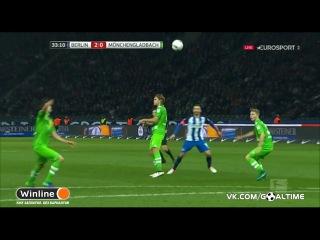 Герта - Боруссия М 3:0. Обзор матча. Германия. Бундеслига 2016/17. 10 тур.