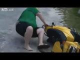 Падения на скутерах и мопедах