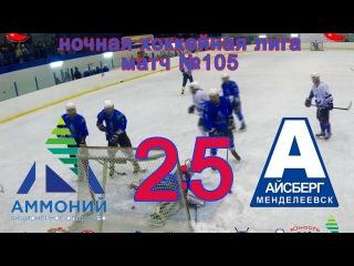 Матч №105 АММОНИЙ -АЙСБЕРГ 2:5 (НХЛ-17)