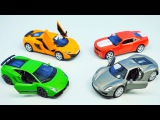 RACE CARS FOR KIDS  Porsche Lamborghini Chevrolet McLaren - Гоночные Машинки для детей
