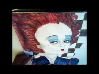 Рисую Красную и Белую королеву из Алисы в стране чудес