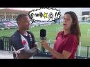 O jogador Andres Manga Escobar do Vasco fala palavrão ao vivo e surpreende repórter.