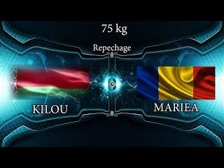Repechage GR 75 kg K KILOU (BLR) df G MARIEA (ROU)