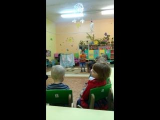 в садике на конкурсе чтецов)))