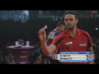 Joe Cullen vs Jelle Klaasen (European Darts Grand Prix 2017 / Quarter Final)