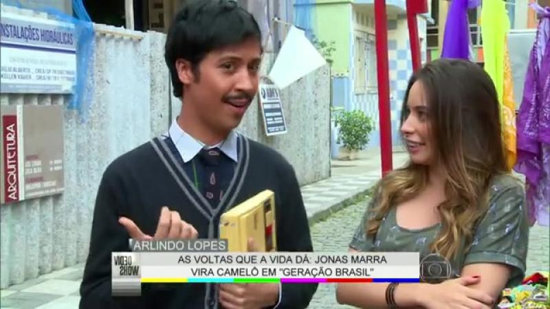 Видео шоу за кадром новеллы Поколение Бразилии