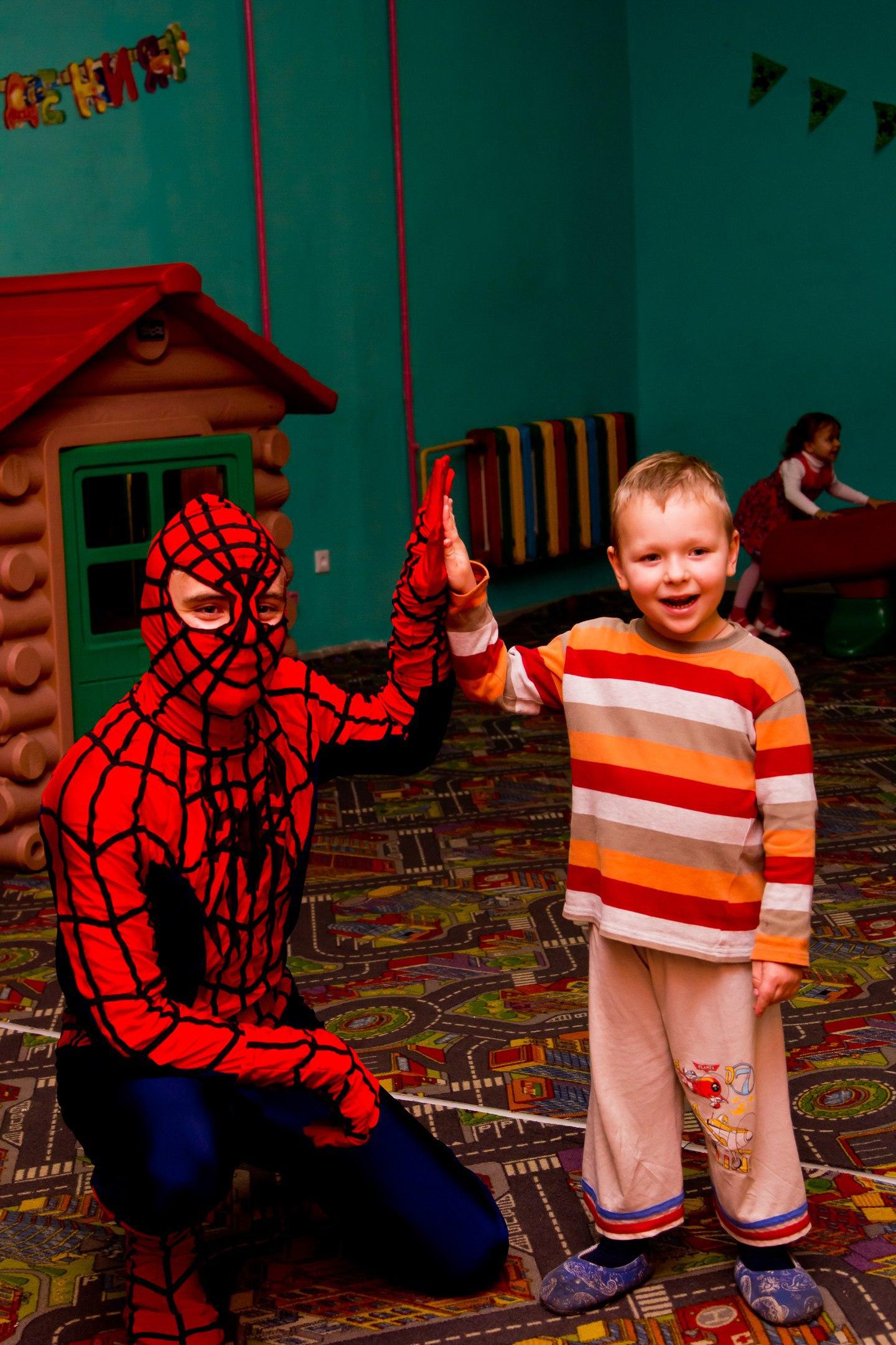 заказать детский аниматор человек паук в запорожье