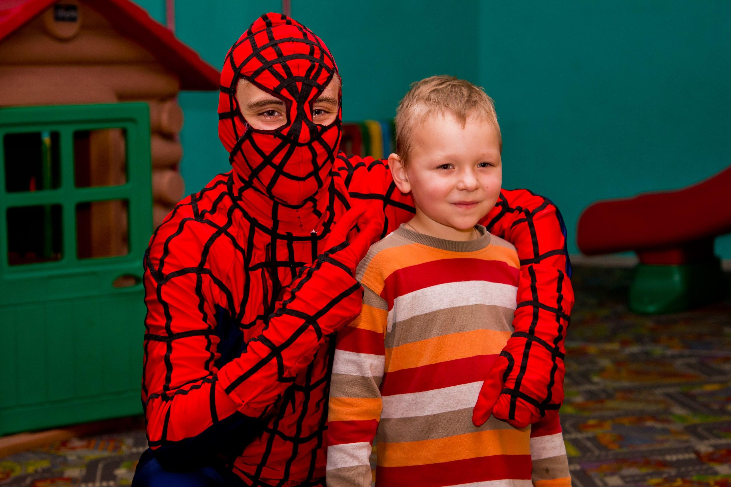 человек-паук детский аниматор недорого заказать запорожье