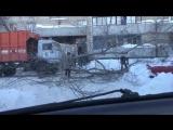 Мусоровоз снес дерево incident_uka