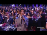 Darren Criss introducing Julia Michaels at Logo's Trailblazer Honors Gala