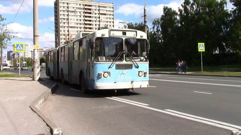 Троллейбус ЗИУ 620520 №2464 маршрут №18 г Тольятти