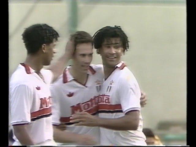Fiorentina Milan 3 7 ● Pellegatti ● 5°giornata Milan campione d'Italia 1992 1993