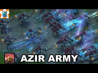 Azir Army 52 Sand Soldiers - Arise and Conquering Sands Abilities - League of Legends