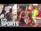 [#My1] ROB GRONKOWSKI HOT CHICKS + CHAMPAGNE SHOWER... Vegas Topless Turn Up | TMZ Sports