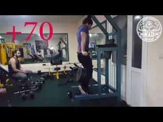 Dips +70kg*19reps