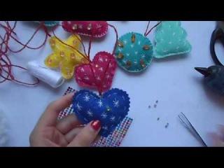 Новогодние игрушки из фетра своими руками / Мастер класс / подарки / декор