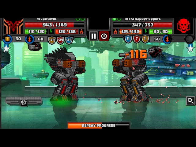 [SuperMechs] Wepwawet VS [HTK] HappyPoppers