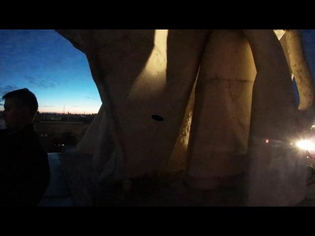 Алые паруса видео 360 градусов с крыши дома на набережной