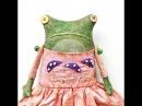 Как сшить текстильную куклу лягушку ( Primitive doll frog)