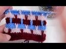 Многоцветный узор спицами Multicolor knitting pattern