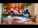 Japanese Street Food - BLUEFIN TUNA CUTTING SHOW SUSHI / SASHIMI MEAL