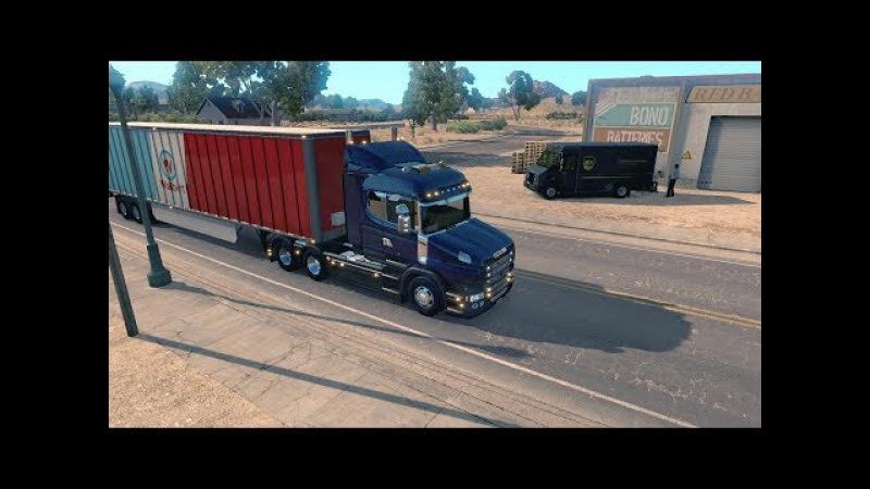American Truck Simulator Рейс 41 Scania T Series (RJL) 6x4 ATS HD-1080p