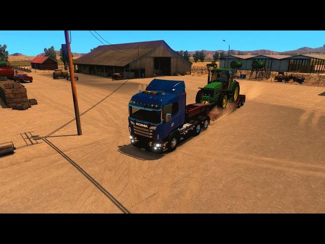 American Truck Simulator Рейс 38 Scania R Series (RJL) 6x4 ATS HD-1080p