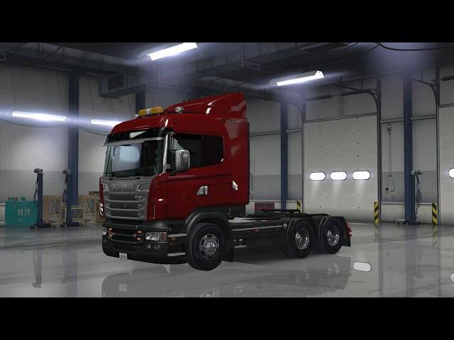 American Truck Simulator Рейс 34 Scania R Series (RJL) 6x4 ATS HD-1080p