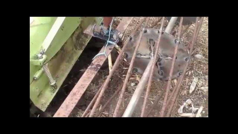 минитрактор мототрактор Зубр 12Е лс опорный планировочный ролик каток к фрезе 2016...