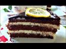 Торт Шоколадно Лимонный или Птичье Молоко с кремом на манке