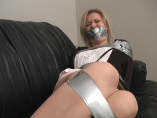 Lil Dee Tape Gagged and Tickled Good in Nylons