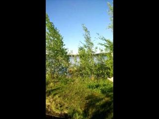 Нижневартовск. Озеро Безымянное. 19 июля 2017 г. купальный сезон открыт.