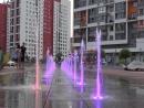 Цветной фонтан в Европейском. Тюмень