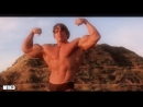 Calum Von Moger and Arnold Schwarzenegger