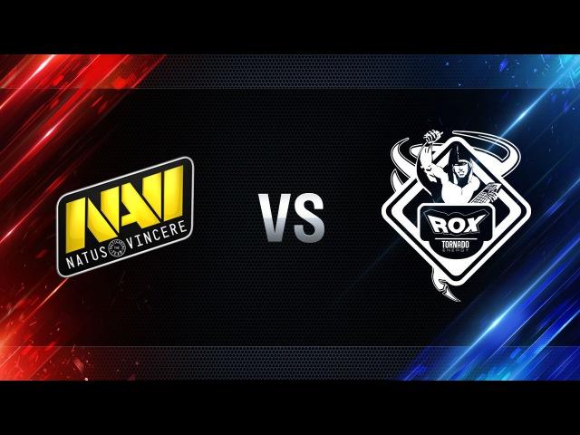 TORNADO.ROX REBORN vs Natus Vincere - day 2 week 8 Season I Gold Series WGL RU 2016/17